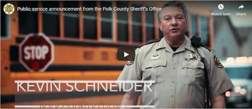 Public Service Annoucement from the Polk County Sheriff's Office (Video)
